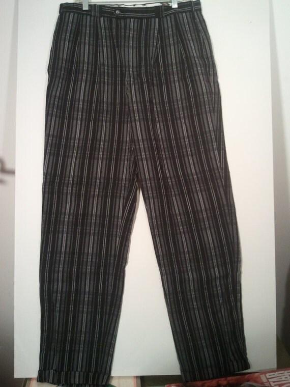 Men S Pinstripe Pants 34 X 34 Dress Pants Bohemian Boho
