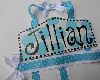 Hair Bow Holder-Turquoise
