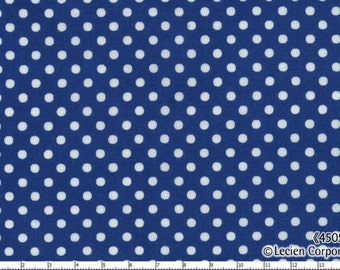 Last Piece, Japanese, Leicen Color Basics, White Polka Dots on Blue, 4505-DL, 20.5 X 44 inches