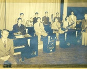 Jimmy Henderson Band 1930s Swing Jazz Horn Players Newspaper Vintage Black White Photo Photograph
