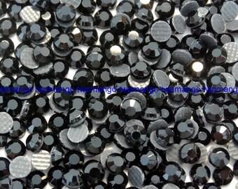 1440 Rhinestones Hotfix Iron On Black SS10 3mm 10 Gross N98-1