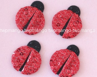 20pcs Sequin Lady Bug Appliques 11/4 inch Sewing Craft EA247