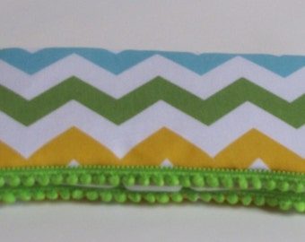 Boutique Style Baby Wipes Case or Travel Wipes Case-Chevron Stripes-Ready To Ship