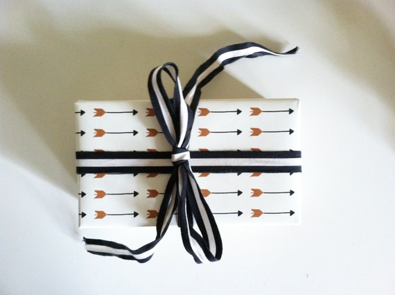 """Gift Paper // Falling Arrows Print // 3 foot roll // Each sheet is 26""""X36"""" inches"""