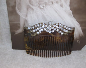 Gibson Girl Rhinestone Hair Comb...American Eagle...Patriotic...Wedding....Bridal...Titanic