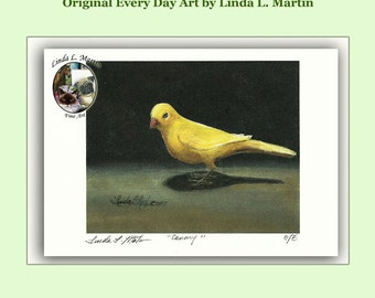 5 by 7 Signed Canary Fine Art Print