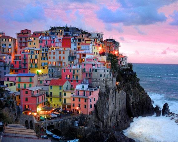 Italy Photograph Cinque Terre photo Manarola Vernazza Monterosso Corniglia Italian Village Seascape ita9