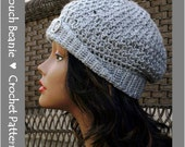 Textured Slouch Beanie Crochet Pattern, automatic download