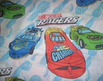 Nascar Speedway Racers Twin Fitted Sheet- Fabric
