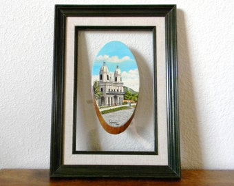 Framed Vintage Painting Souvenir - Signed and Dated