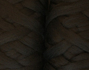 50 Merino Pencil Roving Black