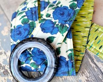 Liberty of London Fabric Belt, Deep Blue roses