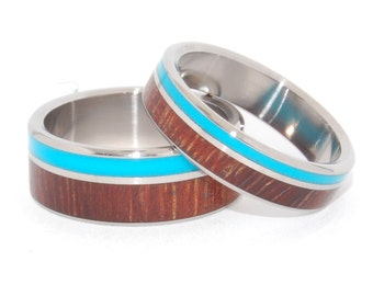 wedding rings, titanium rings, wood rings, mens rings, womens ring, Titanium Wedding Bands, Eco-Friendly Rings - WOODED COVE