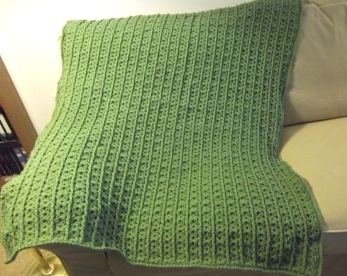 Afghan - Crochet Afghan in Green - Country Style