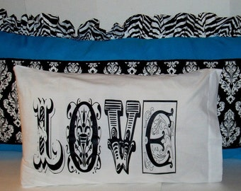 Love Pillow Case  20x32