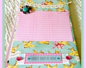 Premade Baby Girl Scrapbook/Album Retro 50s