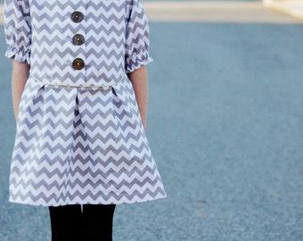 the ZIG ZAG dress pdf pattern size 18M to 8