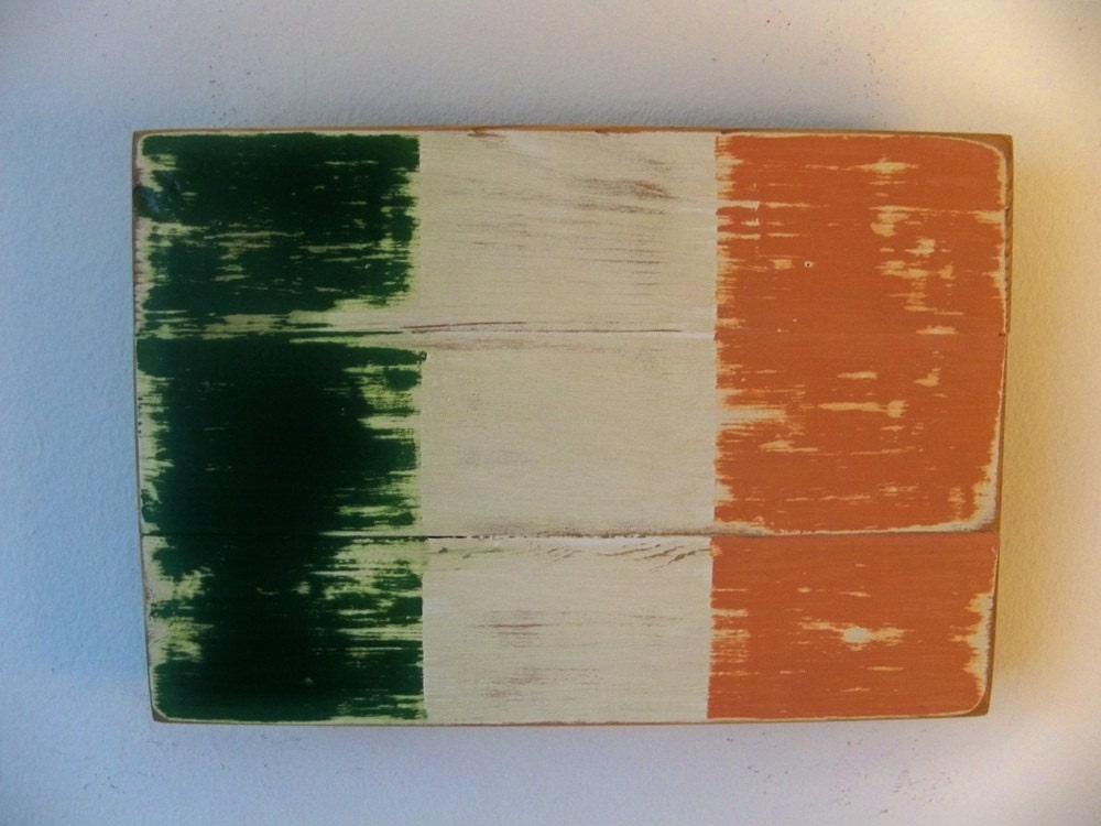 Distressed irish flag wood wall hanging for Irish decorations for home