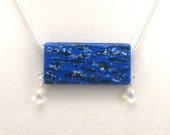 Ocean Waves Painted Necklace