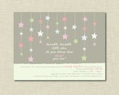 Twinkle, Twinkle Little Star Baby Shower Invitation Girl | Baby Girl Shower Invitations | Gender Reveal Invitation | Kid's Birthday Invites