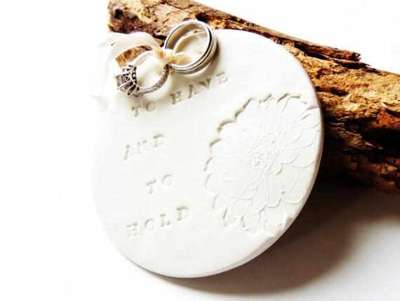 ring bearer pillow wedding ring holder plate dish bowl
