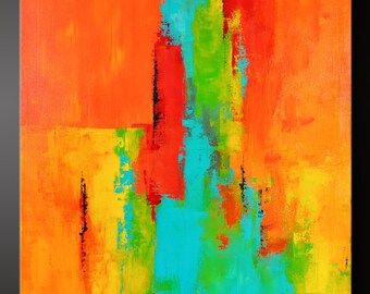 Tango - 22 x 28 - Abstract Acrylic Painting on Canvas - Contemporary Wall Art