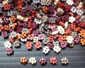 200 pcs tiny flower button 4mm Earth tone color
