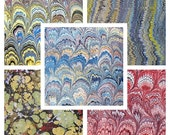 5  marbled paper, 5 sheets bulk pack 19.5