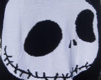 Skeleton Crocheted Blanket - Twin Size - 4-6 week Production Time