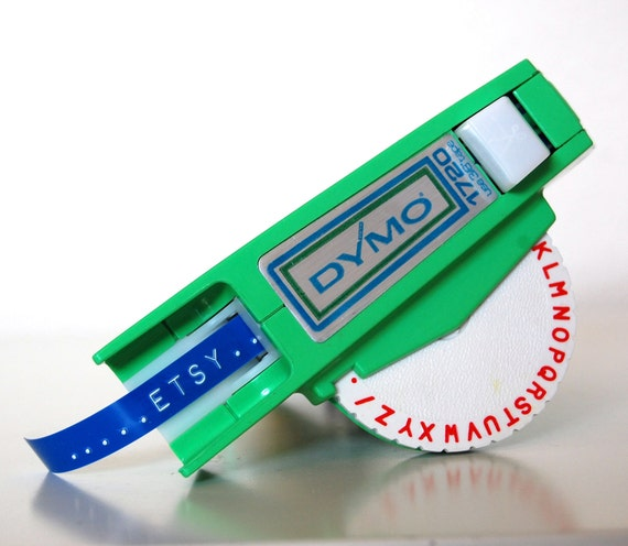 Vintage Dymo Label Maker Lime Green By SackLunchTime On Etsy