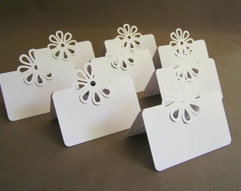50 Pop Up Flower Placecards / BLANK / Tent Style 3D/ Free Standing Placecards