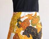 Vintage look bias cut skirt