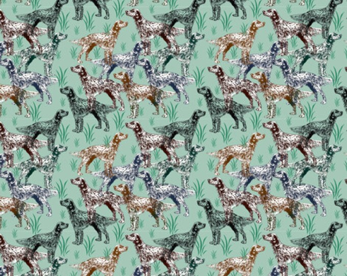 English Setter dog fabric