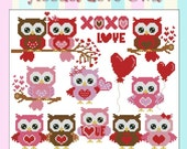 Hootie Love Owls  Mini Collection Cross Stitch PDF Chart