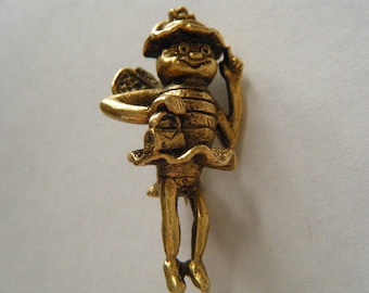 Bee with Tutu Tipping Hat Brooch