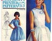 Vintage 1963 Simplicity 4973 Sewing Pattern Junior's and Misses' One-Piece Dress Size 16 Bust 36