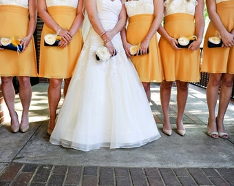 Yellow and Navy Wedding Party - Bridesmaid - Bridesmaid Gift Idea - Bridal Accessories - Bridal Clutch - Custom clutches