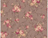 Mary Rose Grace Fabric Collection by Quilt Gate MR2140-13E Brown Medium Rose