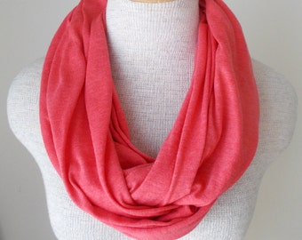 CORAL Jersey Knit Infinity Scarf