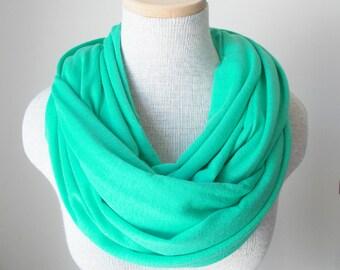 Mint Knit Infinity Scarf