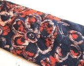 Vintage ROOSTER White Label Men's Abstract Cotton Necktie