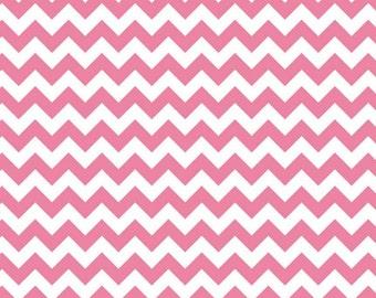 SALE - Riley Blake - Small Chevron in Hot Pink