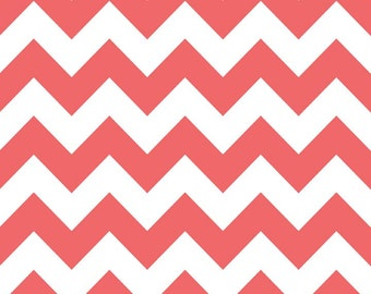 SALE - Riley Blake - Medium Chevron in Rouge
