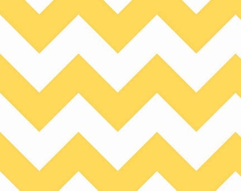 SALE - Riley Blake - Large Chevron in Yellow