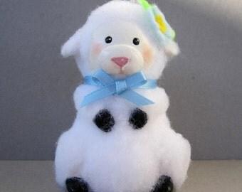 Lamb Flowerpot Bell Ornament