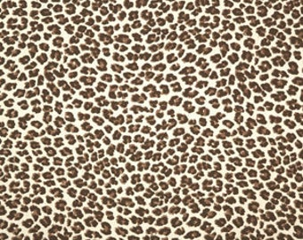 Premier Prints Leopard in Chocolate/Natural  Home Decor LAST 1 1/2 YARD CUT
