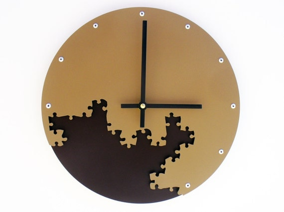 Puzzle Iii Medium Unique Wall Clock Modern Wall Clock