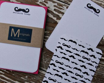 Personalized Note Cards - Mustache