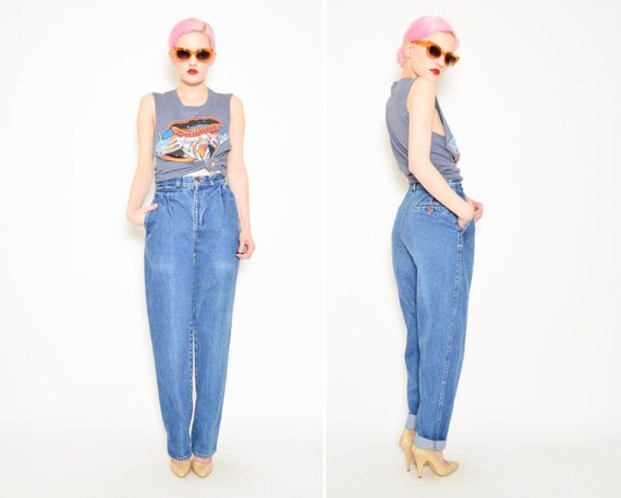 80s Calvin Klein Jeans High Waisted Pleated by SHOPPOMPOMVINTAGE
