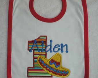 Sombrero Birthday Bib